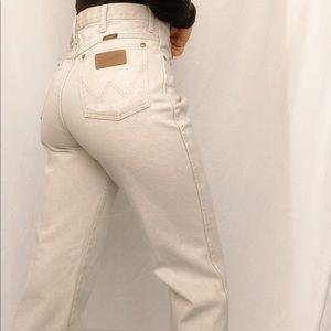 Tan Wrangler Jeans